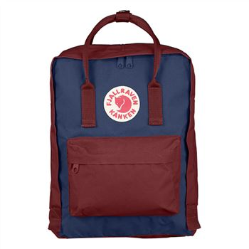 Fjallraven Kanken Classic Royal Blue and Ox Red official online sale