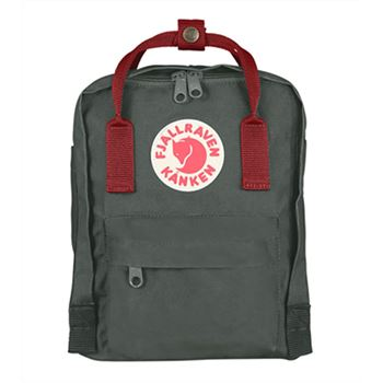 Fjallraven Mini Forest Green and Ox Red sale