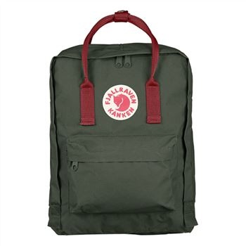 Kanken Classic Forest Green and Ox Red discount sale